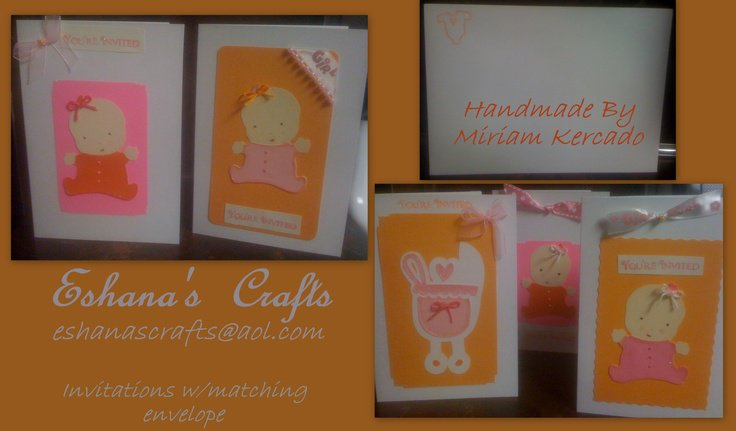 Handcrafted Baby Shower Invitations