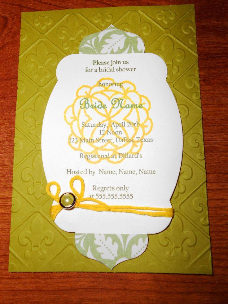 Handmade Bridal Shower Invitations Pinterest