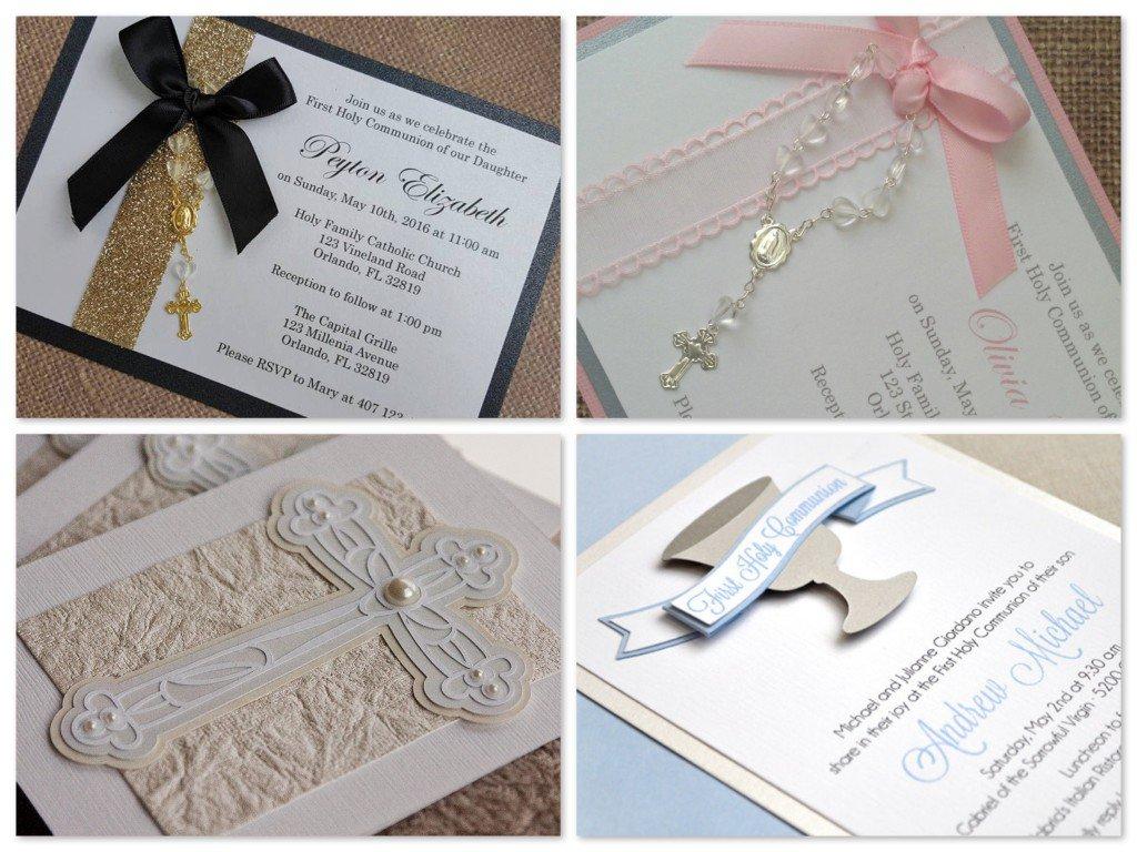 Handmade Communion Invitation Ideas