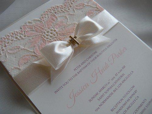 Handmade Communion Invitations