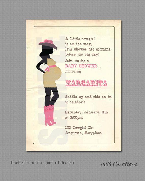 Handmade Cowgirl Baby Shower Invitations