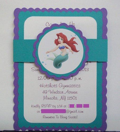 Handmade Mermaid Invitations