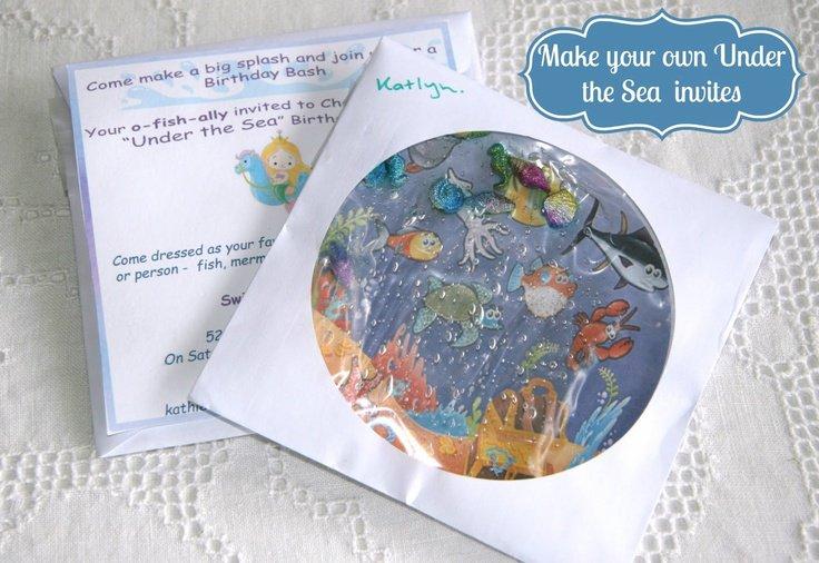Handmade Mermaid Party Invitations