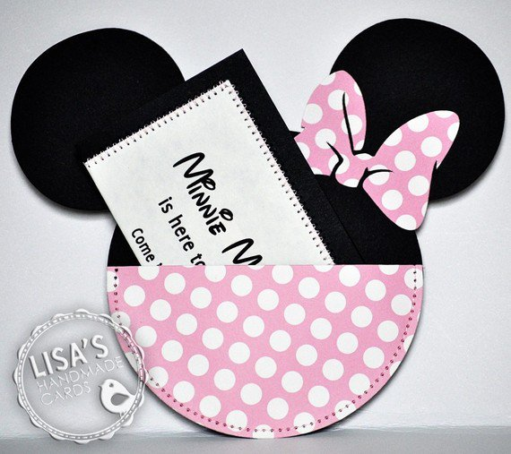 Handmade Minnie Mouse Birthday Invitations