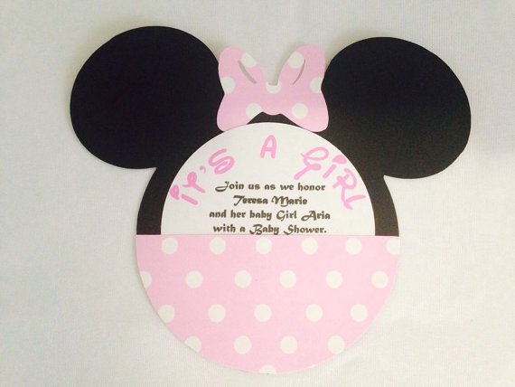 Handmade Minnie Mouse Party Invitations