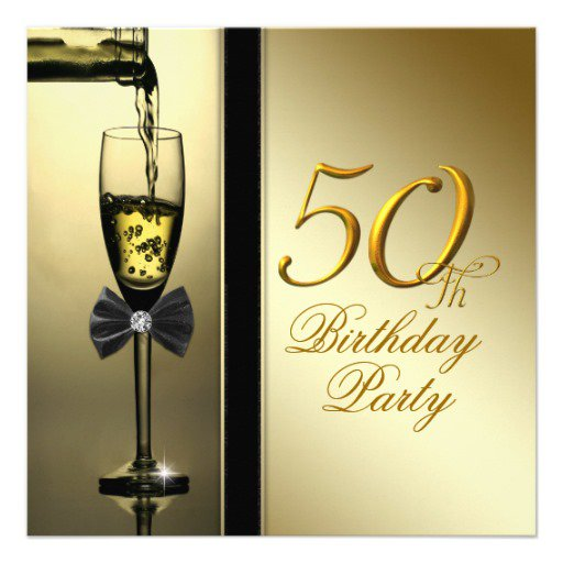 Happy 50th Birthday Invitation Card