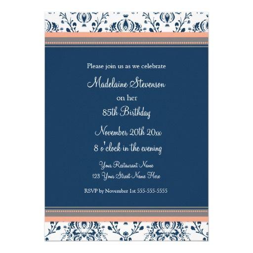 Happy 85th Birthday Party Invitations