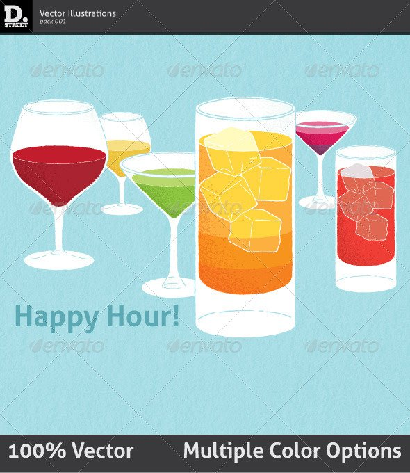 Happy Hour Invitation Flyers