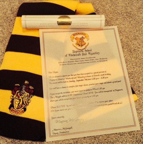 Harry Potter Birthday Invitation Wording