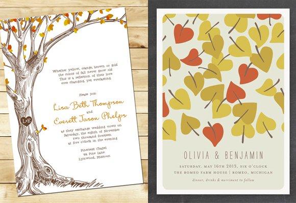 Harvest Themed Wedding Invitations
