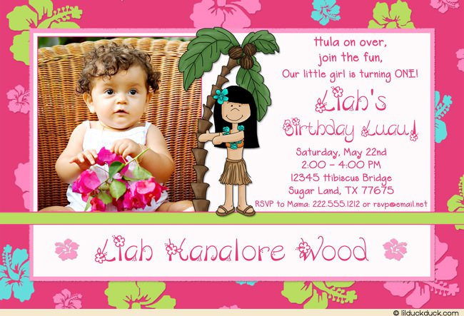 Hawaiian Graduation Party Invitations