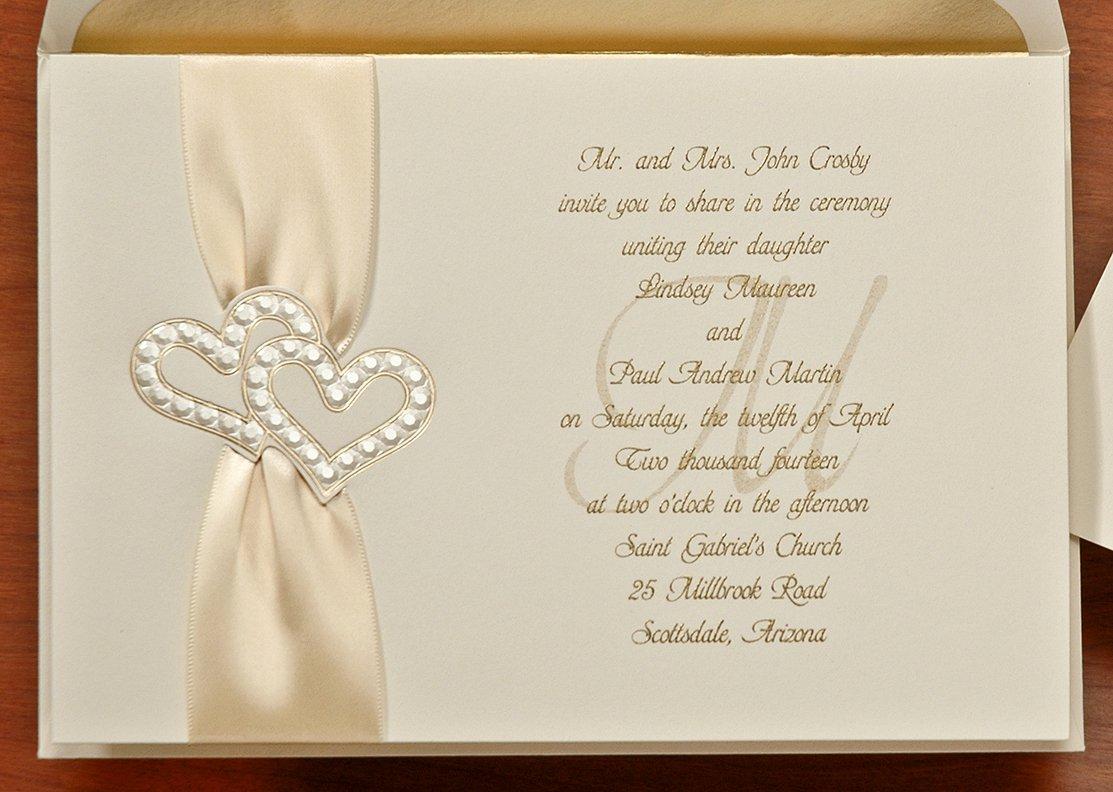 Heart Wedding Invitations Template