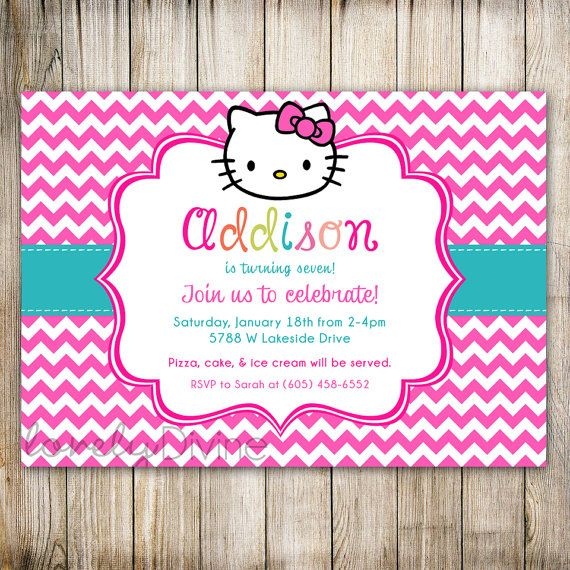 Hello Kitty 2nd Birthday Invitations