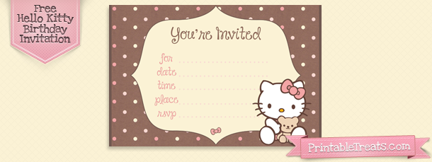 Hello Kitty Birthday Invitation Cards Printable