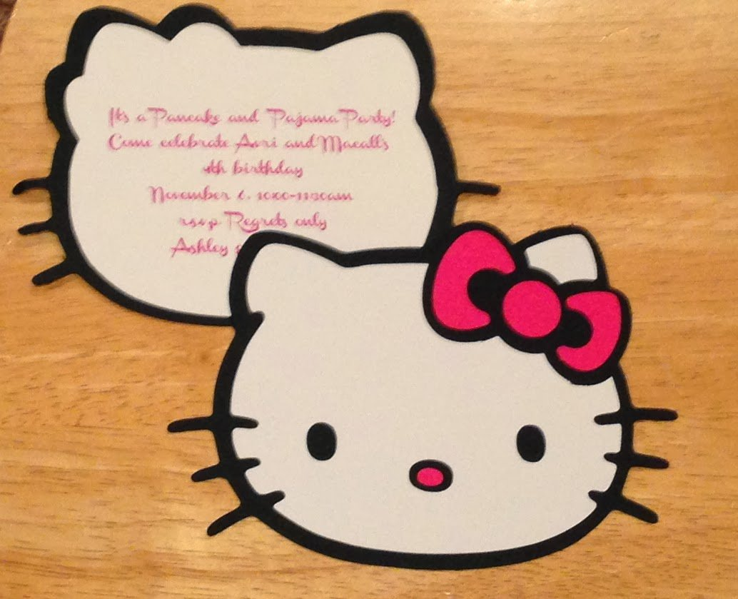Hello Kitty Invitation Paper
