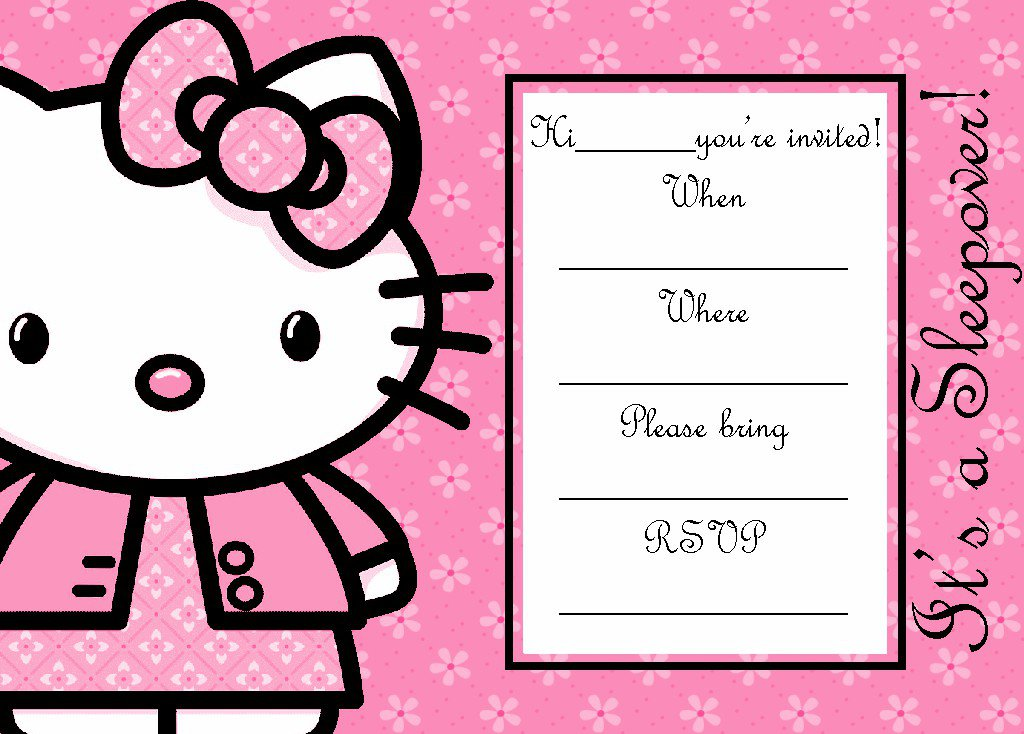 Hello Kitty Invitation Templates Blank