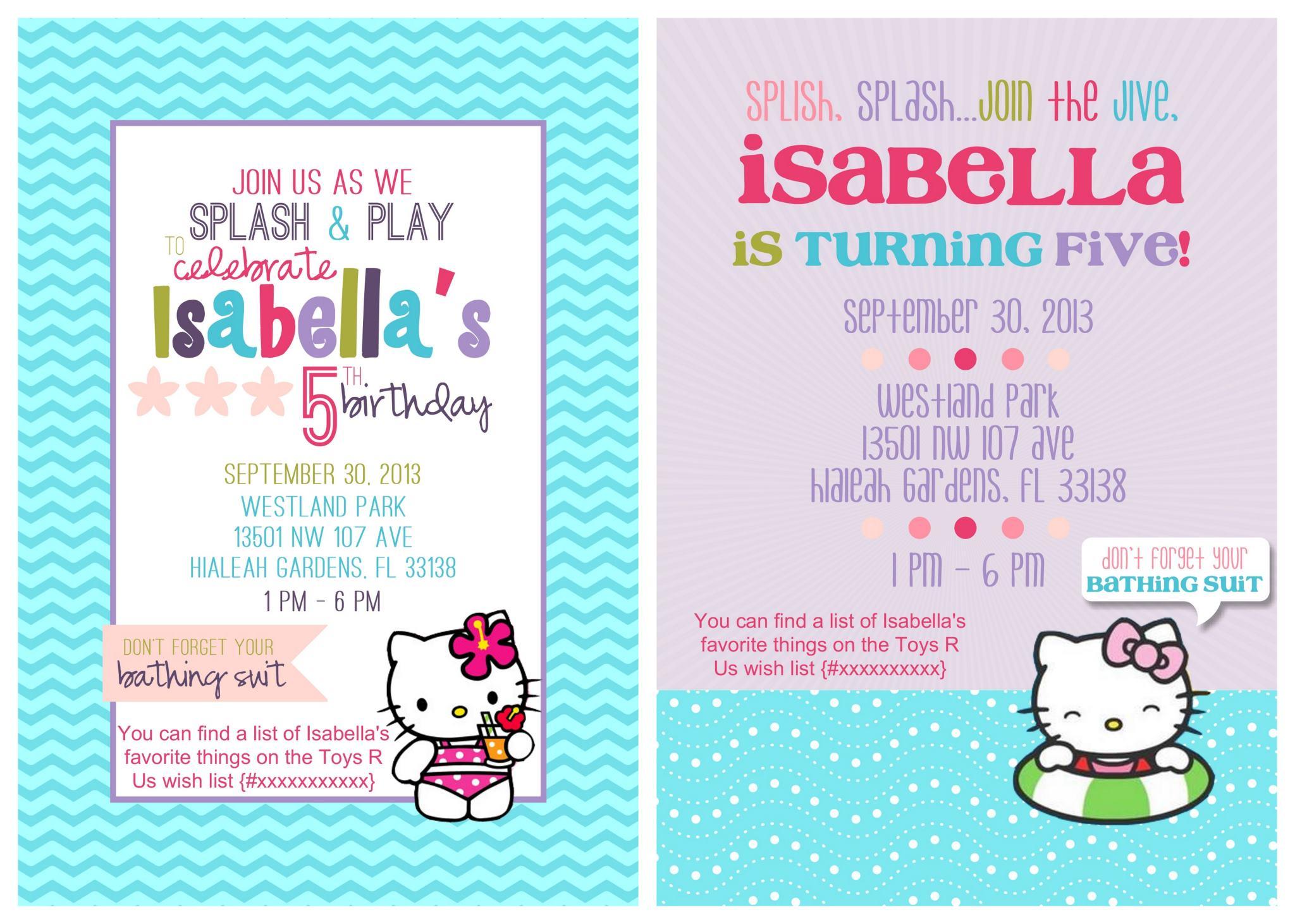 Hello Kitty Party Invitations Printable Free