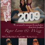 High School Graduation Announcements For Twins