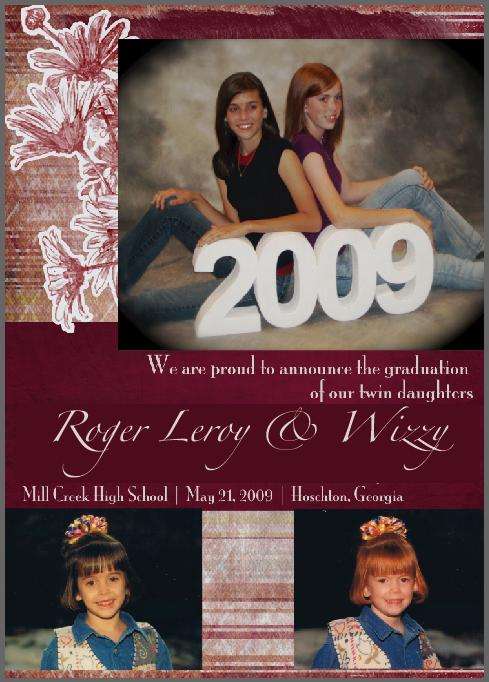 High School Graduation Announcements For Twins