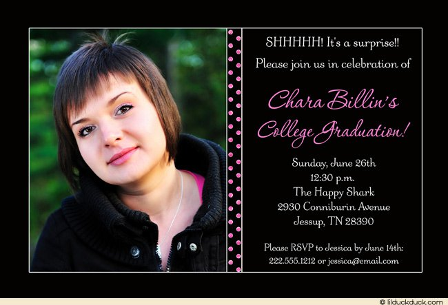 High School Graduation Open House Invitations Templates