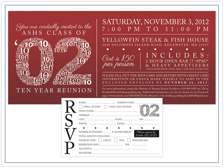 High school reunion invitation wording for Class reunion program template