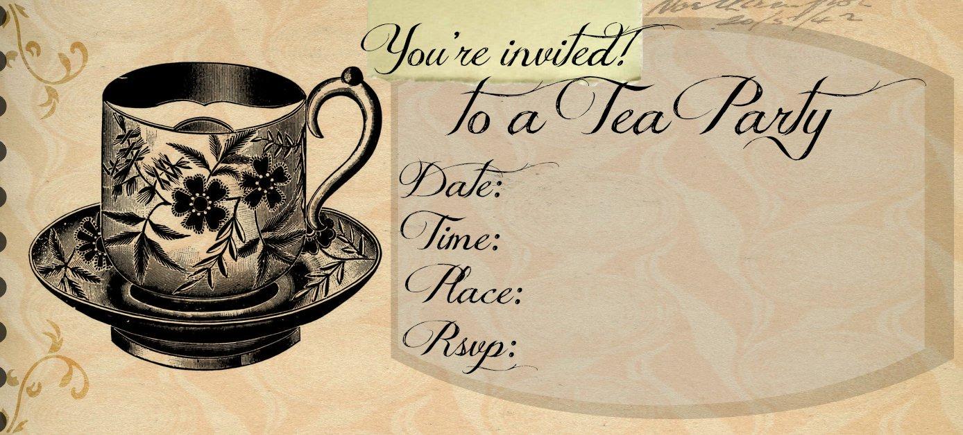 high tea invitation templates. Black Bedroom Furniture Sets. Home Design Ideas