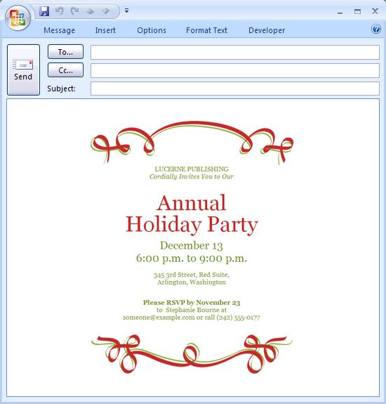 Holiday Christmas Dinner Invitation