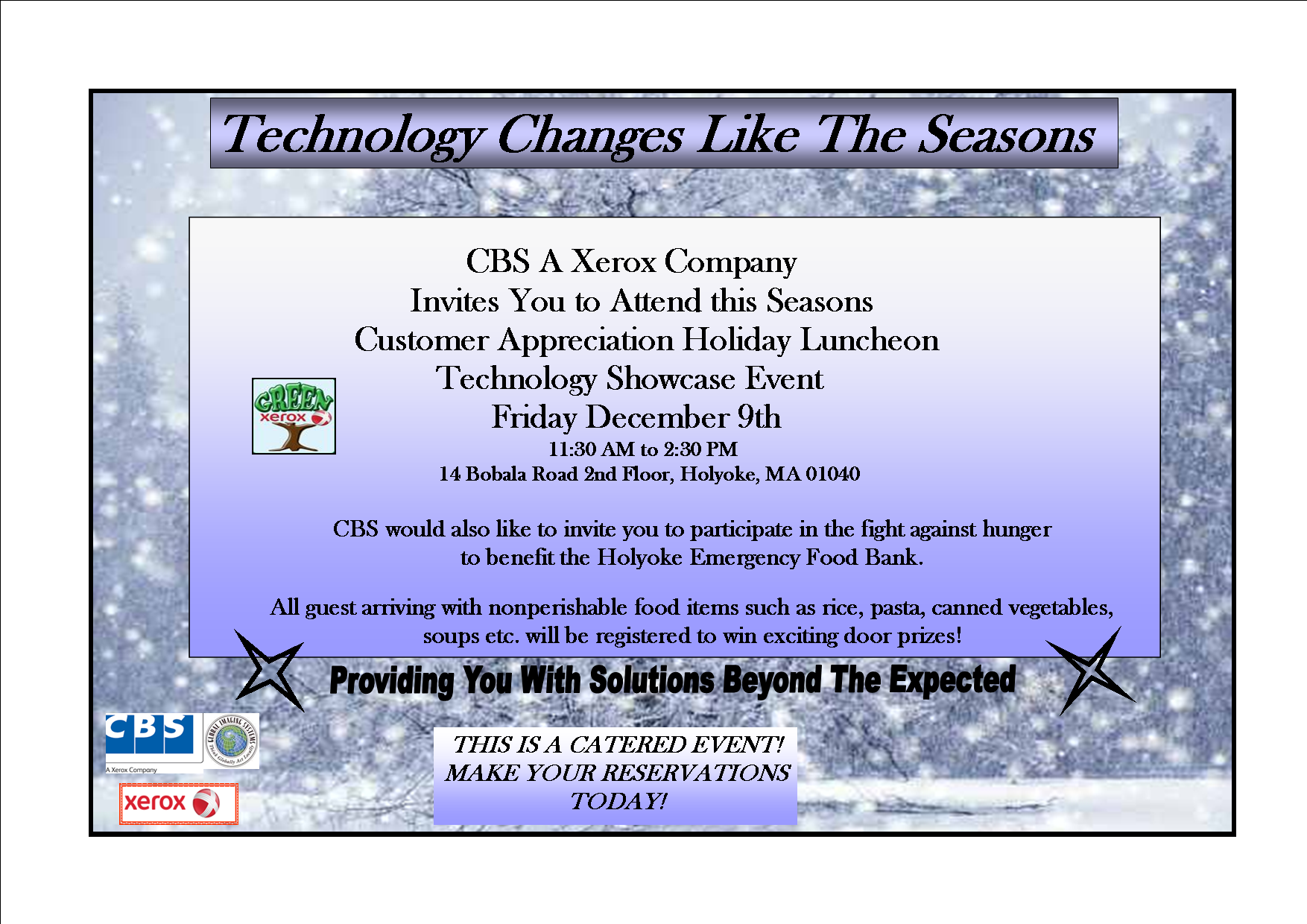 Holiday Luncheon Invitation For Business