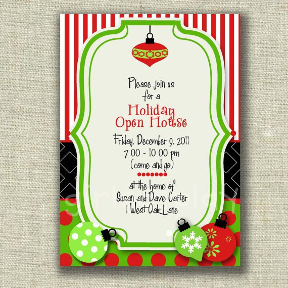 Holiday Open House Invitations Printable