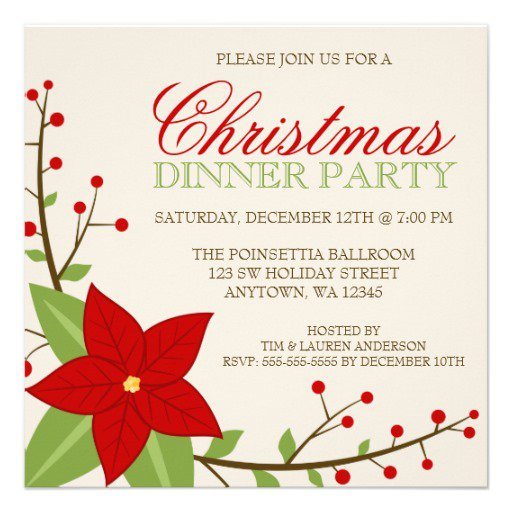 Holiday Party Invitations Blank