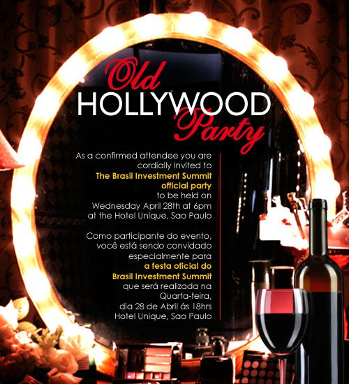 Hollywood Glam Party Invitations