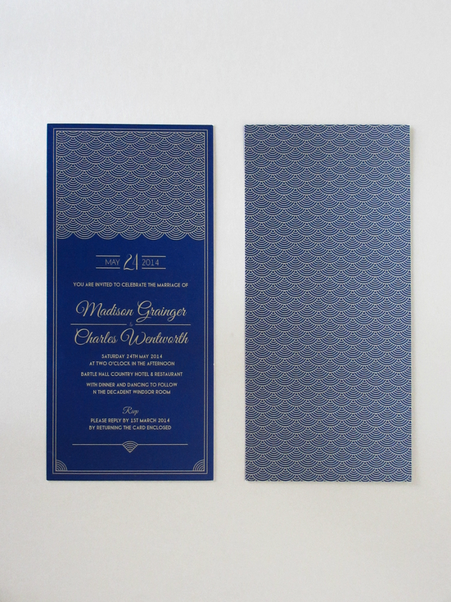 Hollywood Glamour Wedding Invitations Uk
