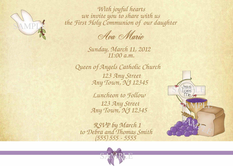 First Holy Communion Invitation Cards digital wedding invitations