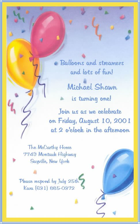 Home Party Invitation Wording