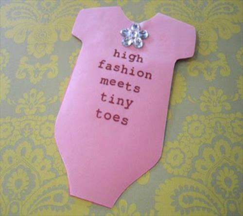 Homemade Baby Shower Invitations For Girls