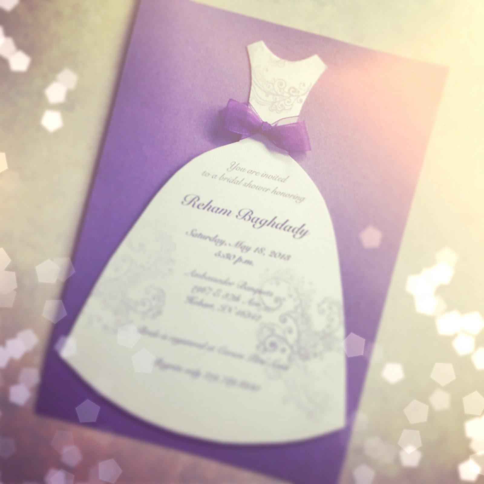 Homemade Bridal Shower Invitations Pinterest