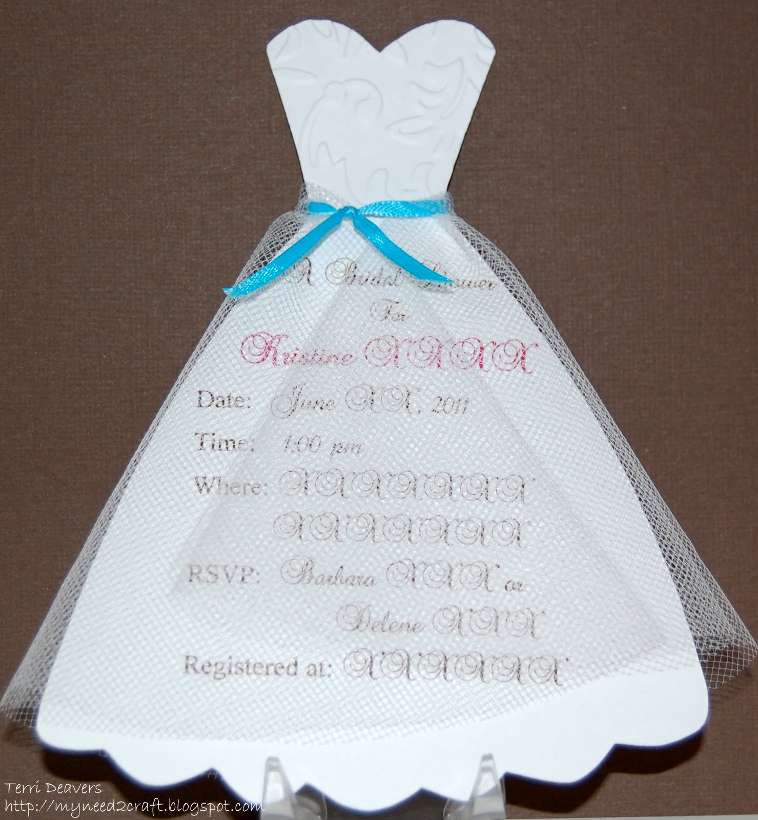 Homemade Bridal Shower Invitations Templates