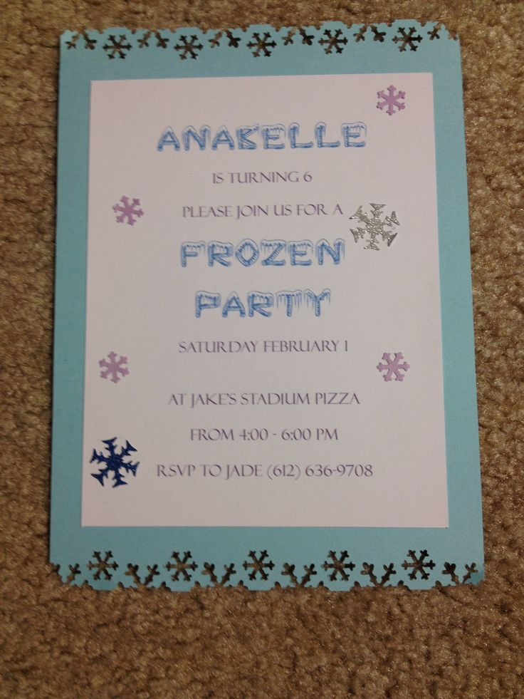Homemade Carnival Birthday Party Invitations