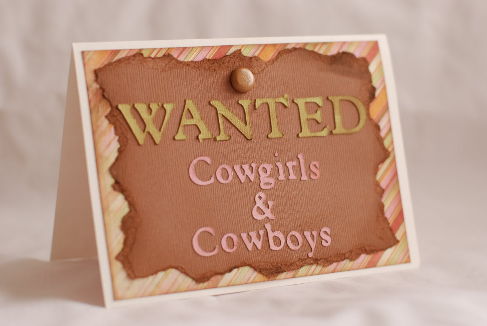 Homemade Cowgirl Invitations