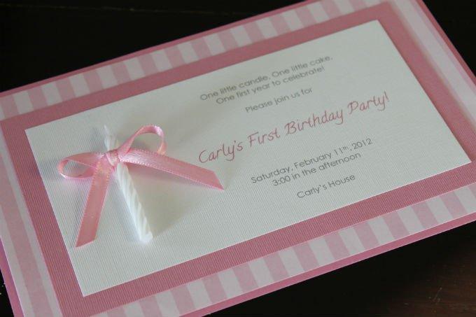 Homemade First Birthday Invitations Ideas