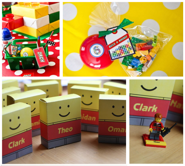 Homemade Lego Party Favors