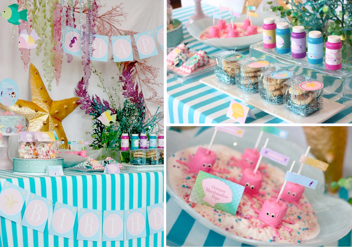Homemade Little Mermaid Party Ideas