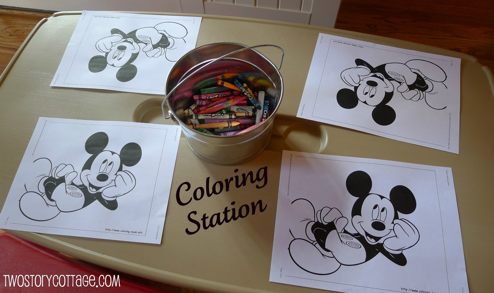 Homemade Mickey Mouse Invitations