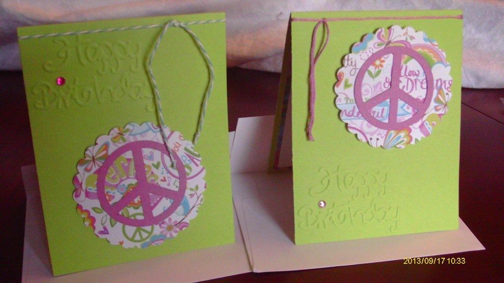 Homemade Peace Sign Invitations