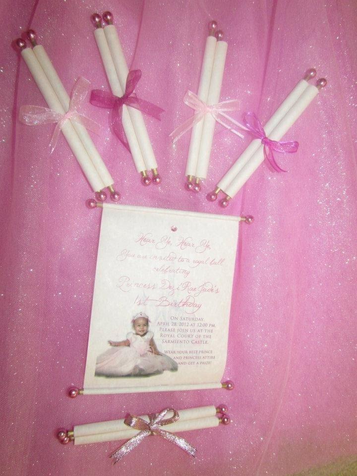 Homemade Princess Invitations