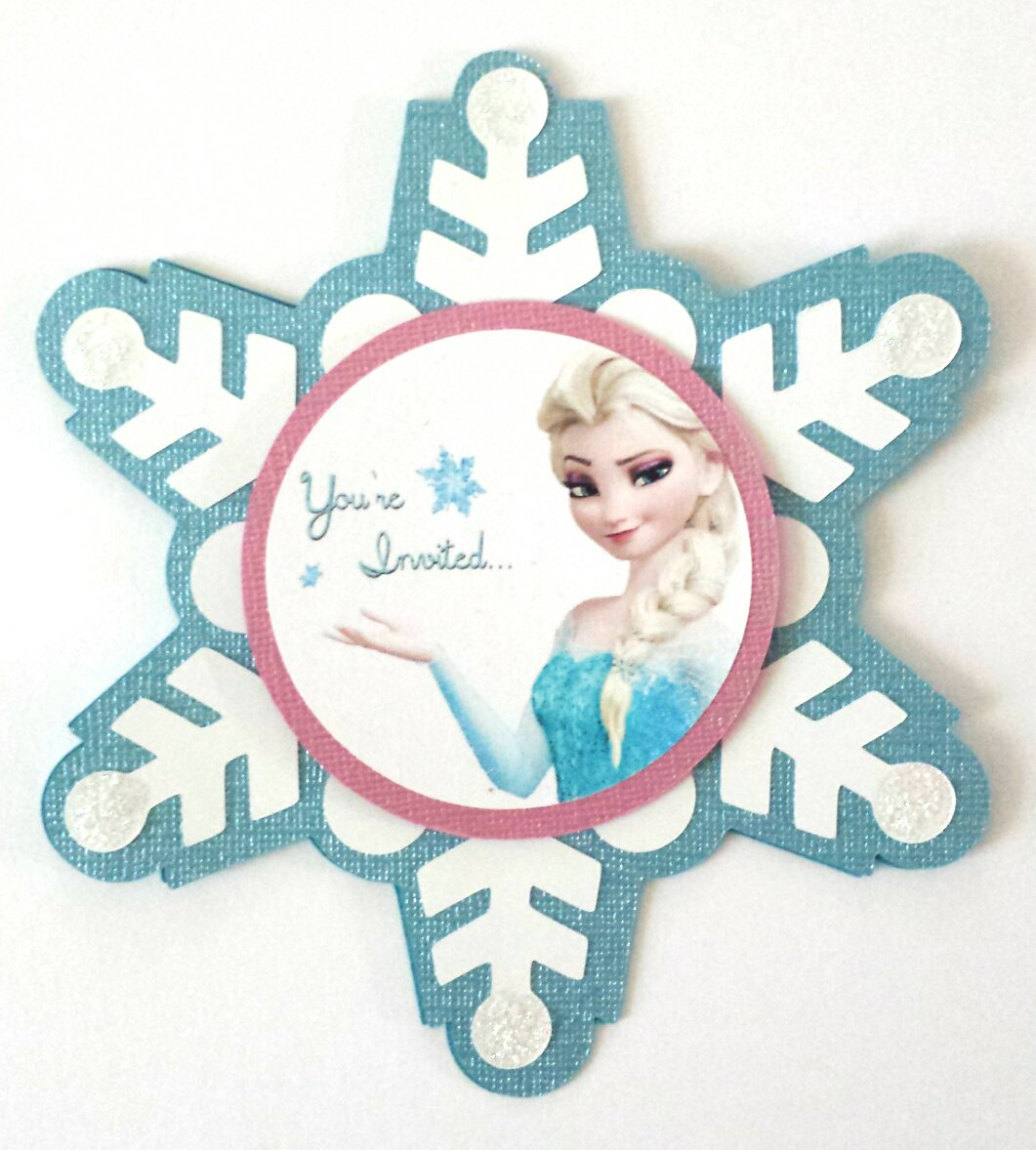 Homemade Snowflake Invitations