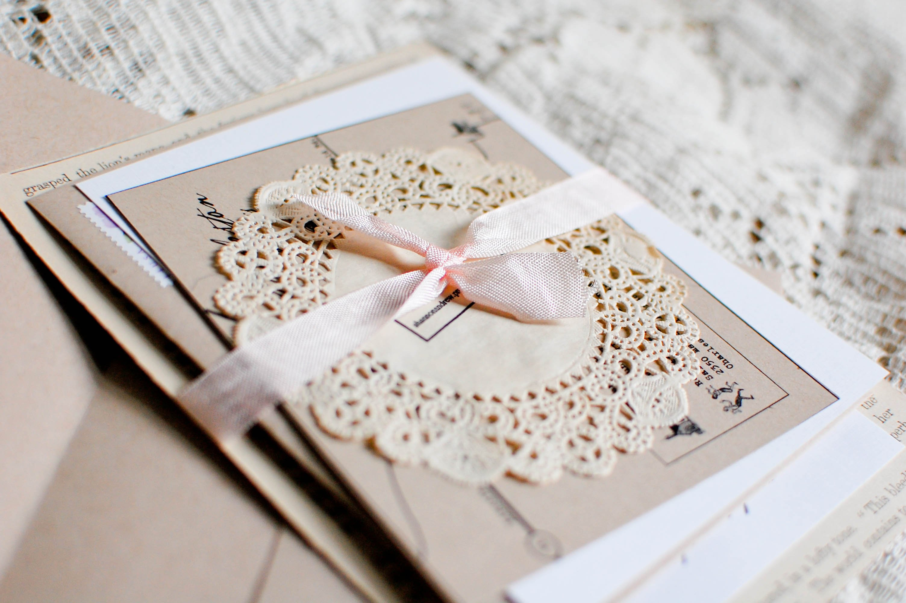 Homemade Wedding Invitations Ideas Pinterest