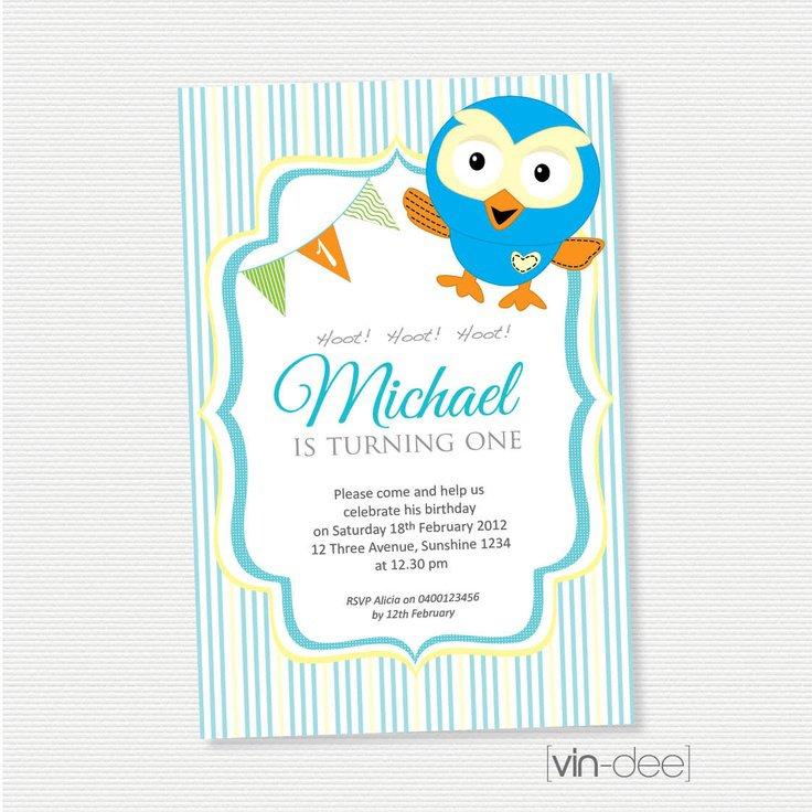 Hoot Owl Birthday Invitations