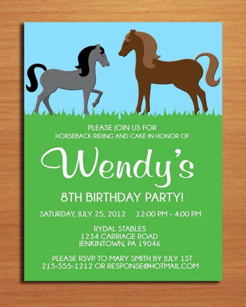 Horse Invitations Samples