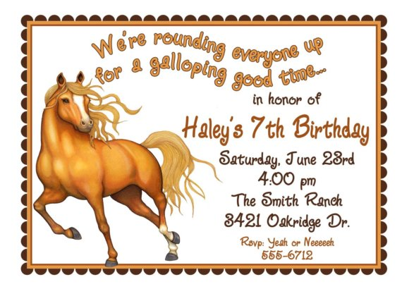 Horse Invitations Templates